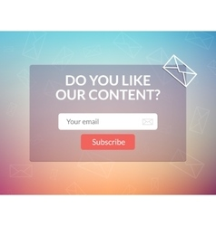 template email subscribe Submit form for vector image vector image