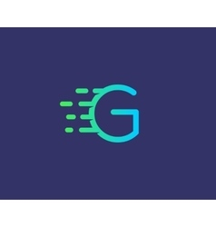Abstract letter G logo design template Dynamic vector image