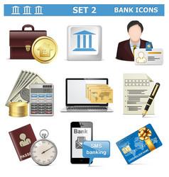 Bank Icons Set 2 vector image