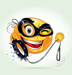 Funny smile with varnish mask vector image
