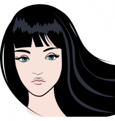 girl face vector image vector image