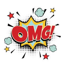 omg comic word vector image vector image