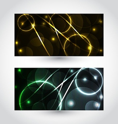 Set of abstract futuristic cards vector image
