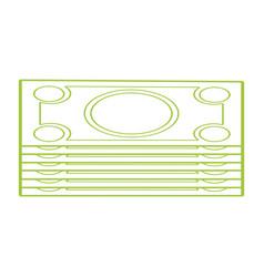 Silhouette bills cash money to economy business vector