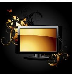 web icon lcd panel vector image vector image