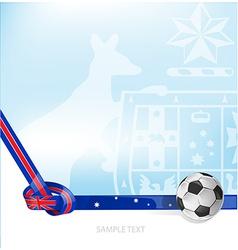 australian background soccer ball vector image vector image