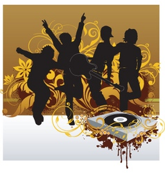 dj party illustration vector image vector image