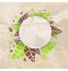 Leaves frame background vector image vector image