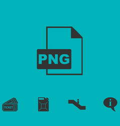 Png file icon flat vector