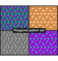 Polygonal pattern set vector image