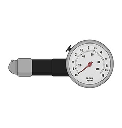 Tire pressure gauge Color vector image vector image
