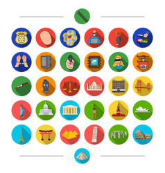Architecture tourism travel and other web icon vector
