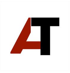 At initials company logo and icon vector