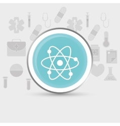 Atom medical science vector image