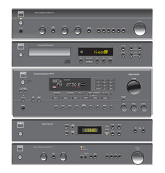 Audio and home theater components vector