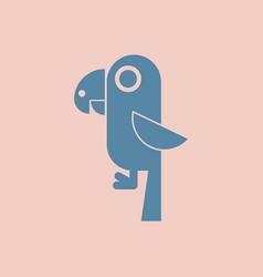baby parrot vector image