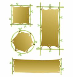 Bamboo banners vector