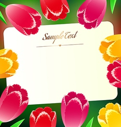 Beautiful horizontal rectangular greating card vector