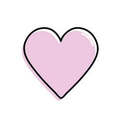 Beauty heart symbol of love and romance vector