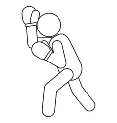 boxing person pictogram icon vector image vector image