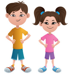 boy and girl asian vector image
