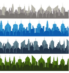 bright comic cityscapes seamless pattern vector image