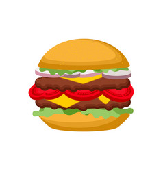 burger isolated hamburger on white background vector image