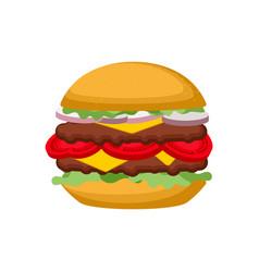 burger isolated hamburger on white background vector image