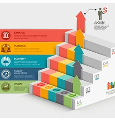 Business staircase diagram template vector image