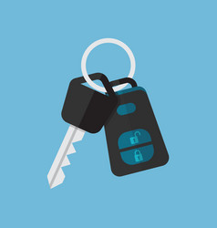 Car key and alarm system vector