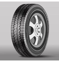Car Wheel with Disk Brake vector