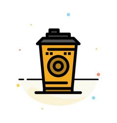 Coffee mug starbucks black coffee abstract flat vector