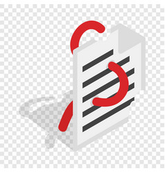Computer worm document destruction isometric icon vector