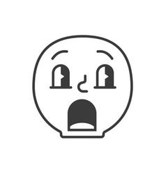 confused smile fase black and white emoji eps 10 vector image