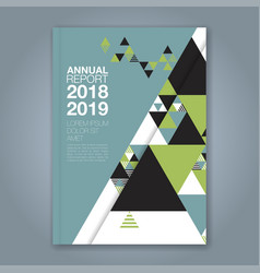 cover annual report 780 vector image