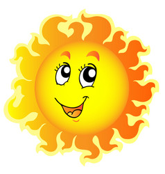 Cute happy sun vector