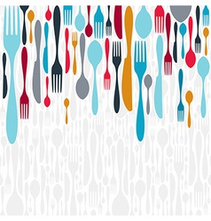 Cutlery silhouette icons background vector image