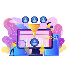 data science analytics concept vector image