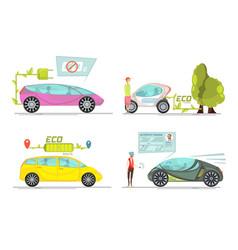 electro car concept vector image