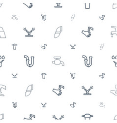 Faucet icons pattern seamless white background vector