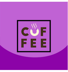 Flat icon design collection coffee sign vector