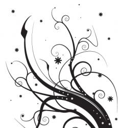 floral silhouette vector image