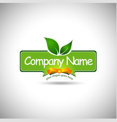 Food Label Logo Design vector image