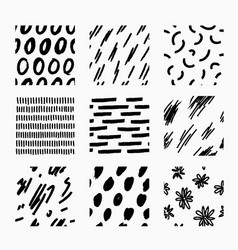 freehand pattern swatch set vector image