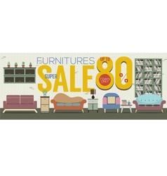 Furniture Super Sale 6250x2500 Pixel Banner vector