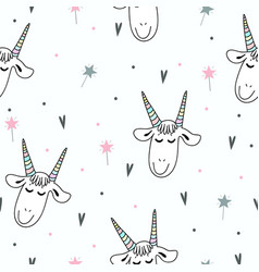 goat pattern vector image