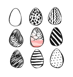 Hand drawn abstract creative easter brush vector