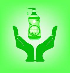 hand sanitizer sanitizer symbol alcohol vector image