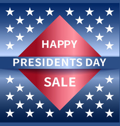 Happy presidents day sale banner vector