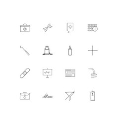 Healthcare and medical linear thin icons set vector